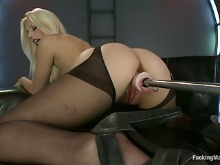 White Haired Babe Jessie Volt In...