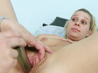 Blonde Tina having pussy speculum examined by gyno doctor