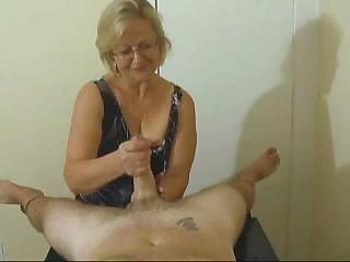 Mrs Watson Gives Different Great Handjob