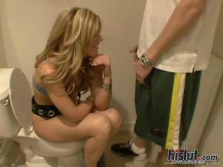 Bella Lynn Gets Caught Squatting On A Toilet During A Party