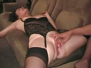 Swinger wife slut creampied after a long time husband watching - snake
