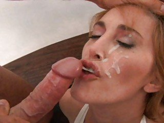 Horny redhead MILF fucked in sexy black lingerie