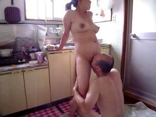 Amateur Asian Japanese Kitchen Licking MILF Natural