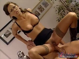 Office sex with busty secretary