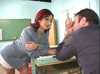 Lisa Teacher fucked by two Students