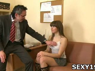 Gal gets teacher cock