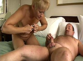 Blonde Mature Fucks a Stoutness