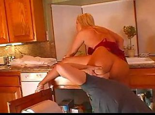 Blonde Kitchen Licking MILF