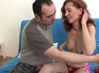 Mature red-head gets thither and dirty