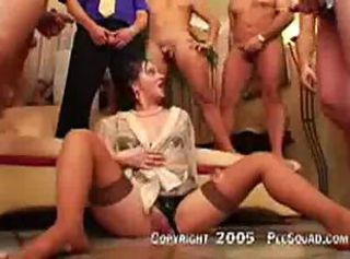 Girls gets pee on her