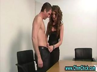 Cfnm femdom blowjob and oral couple