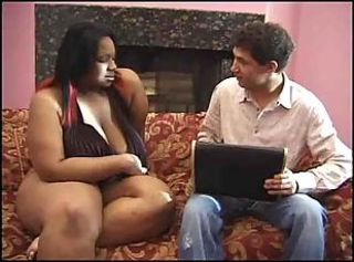 Huge fat black slut fucked by big in life kin