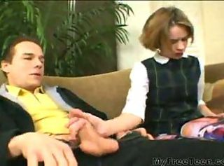 Teen Handjob Clothed School Uniform Extreme