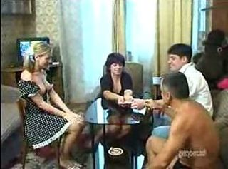 Russian Old Together with Young Couples Swinger Game
