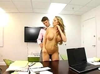 Long-lasting coupled with passionate office hot f-word
