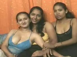 Desi, Indian, Foursome with Sanjana _: asian group indian