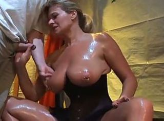 Big Tits Corset German Handjob Natural Oiled Piercing