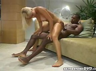 Blonde gets their way tight pussy drilled by a black dude in here