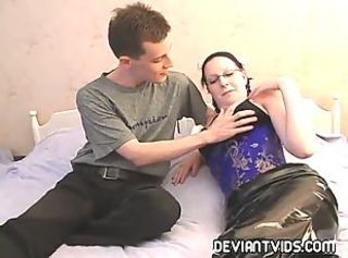 Gagged goth submits to rough sex and facial