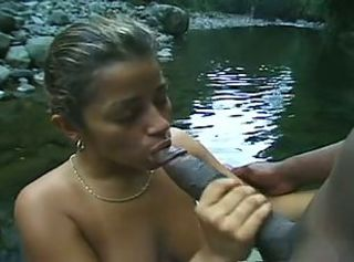 Big cock Blowjob Brazilian Latina Outdoor Pool