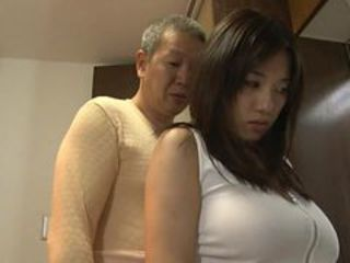 Fingering a Big Breasted Japanese Teen With Their way Women's knickers On
