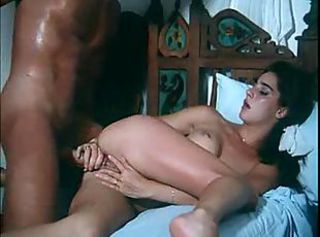 Sensual kissing and fucking in classic scene