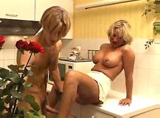 Blonde Kitchen Mature MILF Old and Young