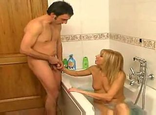 Blonde Italian Mother Plays in the matter of Little one