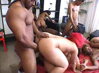 Depraved ebony couples gathered together be worthwhile for hot hardcore orgy
