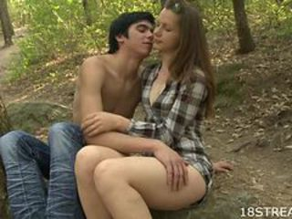 Hot Alfresco Making love With A Sexy Blonde Teen And Her Day