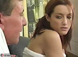 Old pervert sniffs the panty of his step daughter