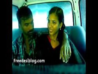 Hot sexy indian lovers kissing with each second choice in car
