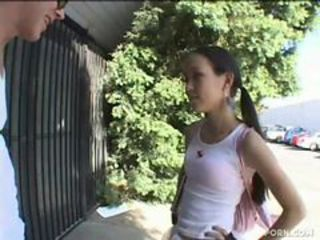 Petite teen Amai Liu getting fucked.