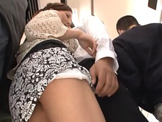 Ruri Saijo Sucking And Fucking A Hard Cock While Showing Her Big Natural Tits
