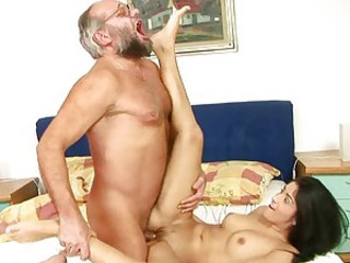 Older guy gets to fellow-feeling a amour Izabela De Cruz's rocking body exposed to the floor