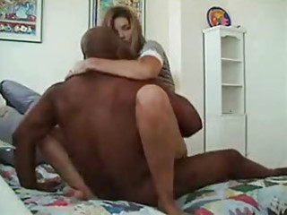 Girlfriend does interracial while boyfriend is working