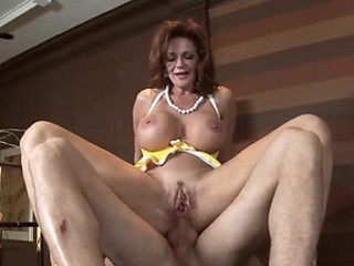 Big Tittied Red-hot Head MILF Deauxma Getting Anal Fucked by Big Cock