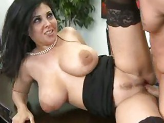 Sexy slutty secretary Jaylene Rio gets railed in her pussy by a nice hunk of man