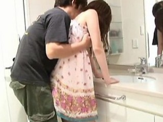 Sexy Usagi Amakusa Gets Creampied Before Handsome a Shower