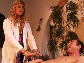Naturopathic Blonde Doctor Angelina Armani Heals a Guy With Sex and 69
