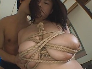 Kinky Asian Slut Rin Aoki Gets Tied Up and Covered in Thick Cum