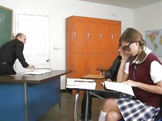 Scorching student Riley Reid fucks in the classroom