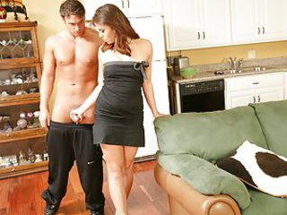 Izy-Bella hasn't been getting any sexual healing from her husband for 3 days so she is really horny. She finds Rocco looking for stuff in her fridge so she decides suck and fuck him. Rocco just found something to eat...Izy-Bella's sweet pussy.