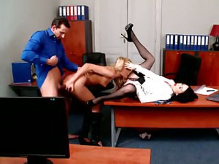 Ivana Sugar fucking bosses cock bent over desk