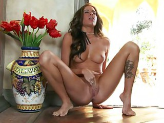 Horny Cali indulges in a little alone time and satisfies her every desire