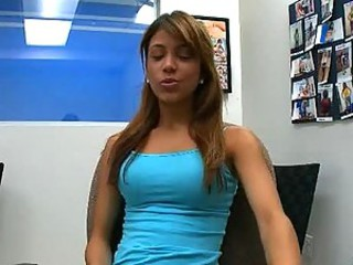 Hot Brunette Teen Seduces her Future Boss at Job Interview
