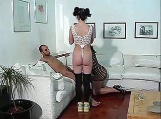 Amateur Ass Brunette Daddy Fishnet Stockings