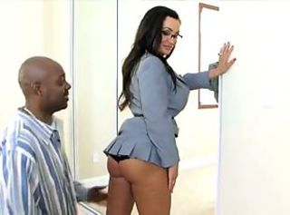 Brunette Pornstar Babe Glasses Ass Big Tits Panty Interracial MILF
