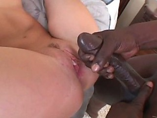 Mesmerizing Blue-Eyed Blonde Gets Banged In an Interracial Threesome
