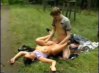 Brother and Sister Outdoor Sex
